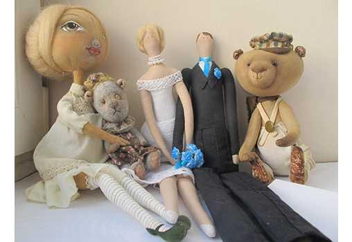 """Мастер-класс от школы """"Мартовский заяц"""" по игрушке Тильда, Винтажные мишки, кукла """"Душистый Горошек"""". в Санкт-Петербурге."""