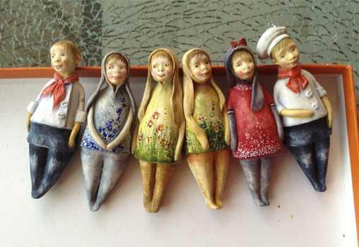 Дом Кукол,куклы,мастер-класс, мастер-класс в таллине,Art Doll House, Ёлочные игрушки, из паперклея, Мастер, Светлана, Дубодел,Эстония, Таллин, мастер-класс,елка, подарки,