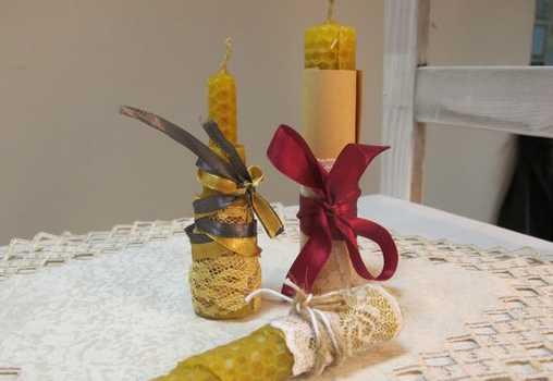 """Школа """"Мартовский заяц"""" приглашает на мастер-класс по медовым свечам из вощины."""