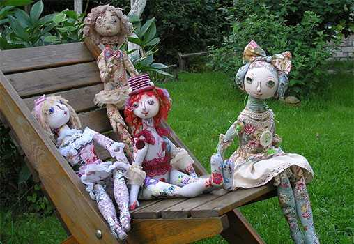 Текстильная шарнирная кукла. МК в Эстонском Доме авторской куклы. Таллин
