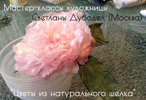 Светлана Дубодел, Цветы из натурального шелка,Мастер-классы