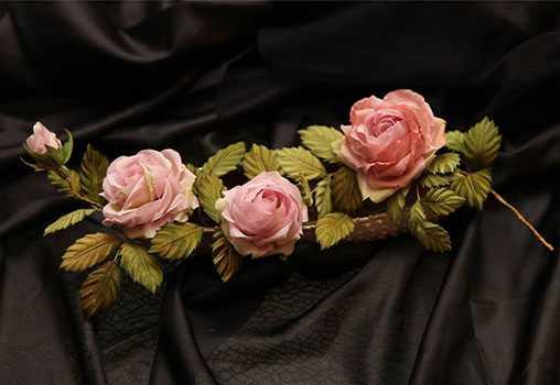 Мастер-класс, Светлана, Дубодел, Розы из натурального шелка, Эстония, эстонский дом куклы