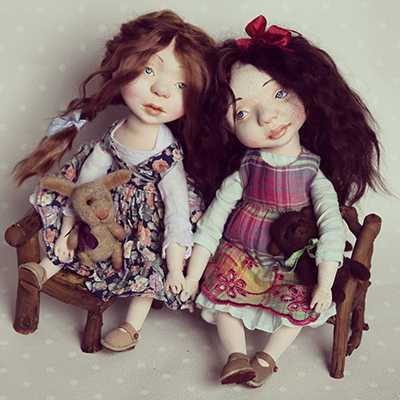трогательные куклы у автора-участника Салона Авторских Кукол на Тишинке 2016 Ники Радюк!
