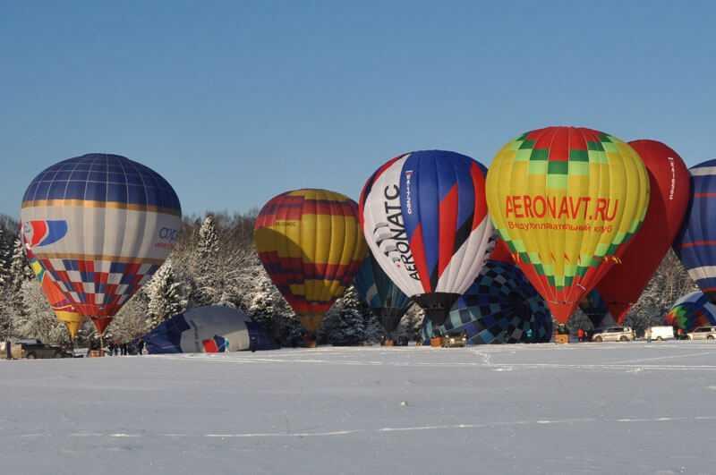 Полет на шаре, в Мосскве