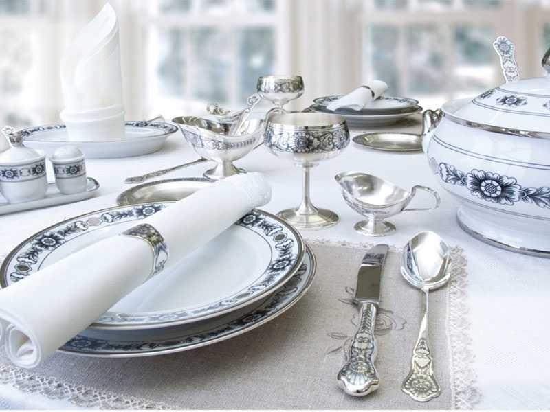 Полезные качества столового серебра