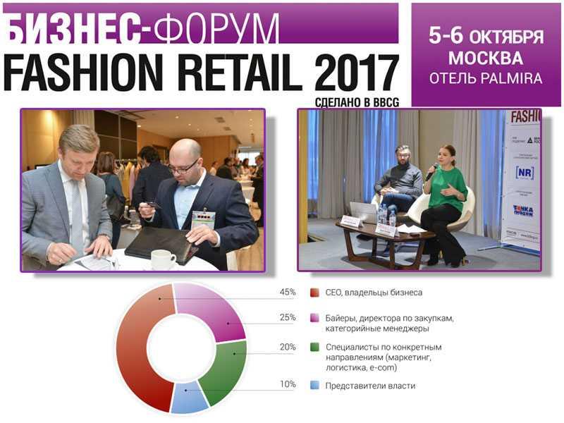 Юбилейный бизнес-форум Fashion Retail 2017 пройдет 5-6 октября в Москве