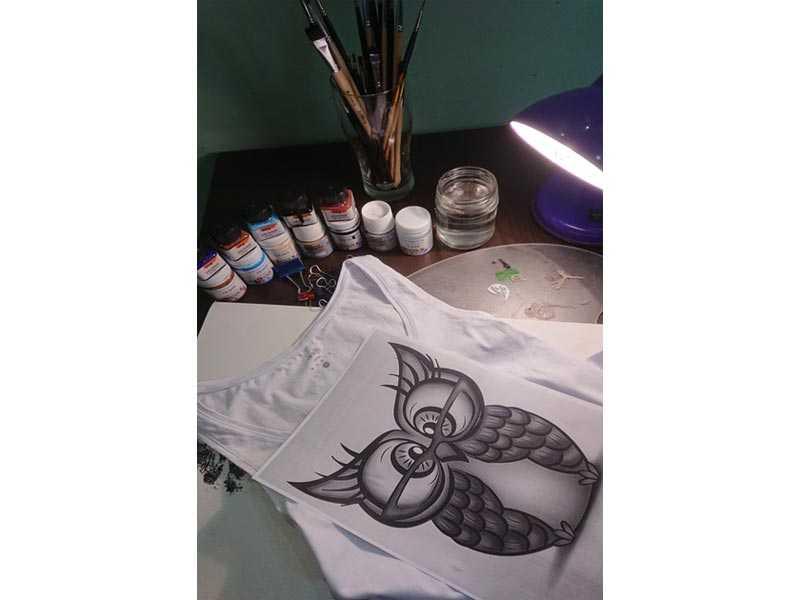Мастер-класс: роспись на футболке