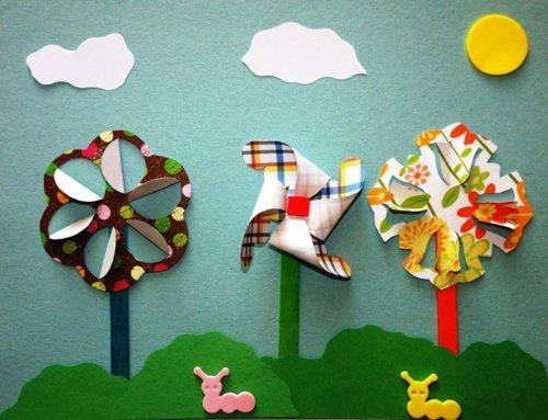 Азбука и другие поделки из крафт бумаги для детей