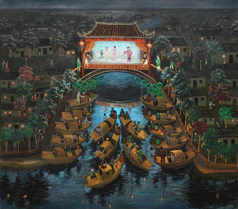 Персональная выставка картин «Красоты шелкового пути. Любовь к Родине» художника из народа Фань Дажуна в Москве